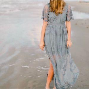 Blue lace maxi dress!!